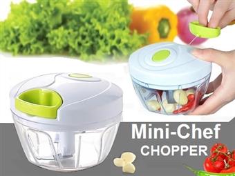 1 ou 2 Picadoras Multiusos Mini-Chef desde 8.50€. Corta, pica, mói, tritura, rala, mistura e conserva os alimentos de forma rápida e fácil. PORTES INCLUÍDOS.