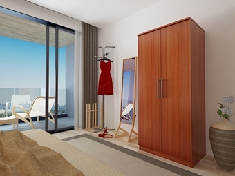 Roupeiro de 2 Portas com 3 Cores à Escolha por 139€. Um modelo prático com muita arrumação para o seu quarto. PORTES INCLUÍDOS.