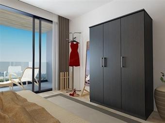 Roupeiro de 3 Portas com 2 Cores à Escolha por 179€. Um modelo prático com muita arrumação para o seu quarto. PORTES INCLUÍDOS.