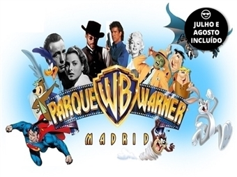 PARQUE WARNER MADRID: Estadia com Pequeno-almoço e Entrada no Parque por 59€. Viva a Magia de Hollywood em Madrid.