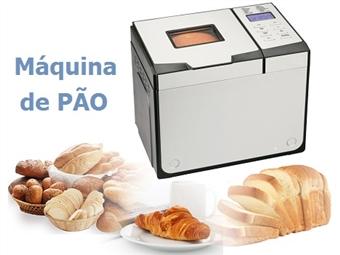 Máquina de Pão com 12 Programas: Básico, Integral, Baguete, Rápido, Doce, Bolo, Compota, Massa, Ultra-rápido, Cozer, Sobremesa e Caseiro por 69€. PORTES INCLUÍDOS.