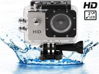 Câmara de Video Digítal Desportiva Action 720P com Caixa Estanque Resistente à Água até 10 metros por 27€. PORTES INCLUÍDOS.