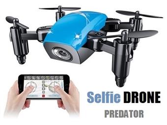 Drone SELFIE Predator com Câmara WIFI por 49€. Ideal para fotos e fácil de comandar graças ao estabilizador de voo de alta qualidade. PORTES INCLUÍDOS.