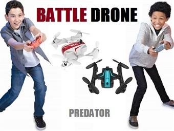 2 Drones BATTLE Predator por 59€. Ideal para batalhas entre 2 pessoas e fácil de comandar para as mais divertidas acrobacias. PORTES INCLUÍDOS.