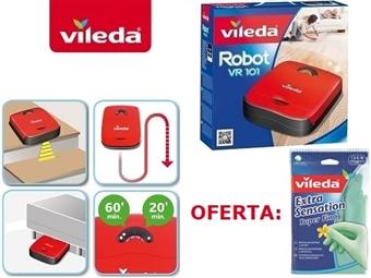 Robot Aspirador VR101 da VILEDA por 119€. OFERTA: Luvas Extra Sensation Super Finas. Ver Video. ENVIO IMEDIATO e PORTES INCLUIDOS.