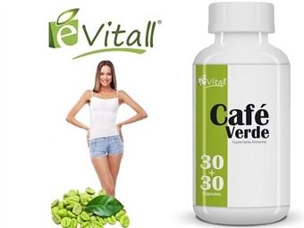 Café Verde da e-Vitall: Frasco de 60 Cápsulas para 60 Dias desde 14.50€. Efeito Detox e Termogénico. ENVIO IMEDIATO e PORTES INCLUÍDOS.