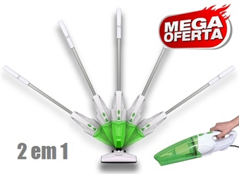 MEGA OFERTA: Aspirador Ciclónico Flexível 2 em 1 sem Saco de 800W: Opção Vassoura ou Mão com 2 Cores à Escolha por 36€. PORTES INCLUÍDOS.