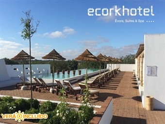 ECORKHOTEL 4* em Évora: 1 Noite em Suite com Welcome Drink, Jantar e Tratamento VIP  desde 150€ no 1º Hotel do Mundo coberto por Cortiça. Férias ZEN!