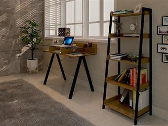 Estante com 5 Prateleiras em Cerejeira por 99€. Um elemento prático e simples para mais arrumação em sua casa. PORTES INCLUÍDOS.