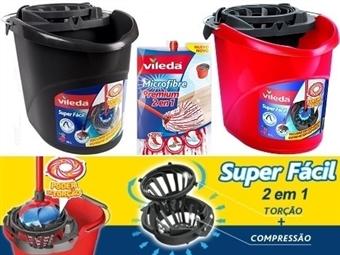 Especial VILEDA 2 em 1: Balde com Espremedor Super Fácil + Esfregona Microfibra Premium por 16.50€. VER VIDEO. PORTES INCLUIDOS.