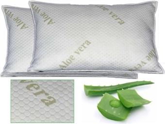 2 Almofadas Viscoelásticas com 60x35cm e Tratamento de Aloe Vera por 24€. Descanso cervical completo. PORTES INCLUIDOS.