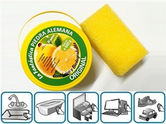 1 ou 2 Fantásticas Pedras de Limpeza Originais de 600gr: Ecológica e Biodegradável com Cheiro a Limão desde 12.50€. Limpe tudo em sua casa! PORTES INCLUÍDOS.