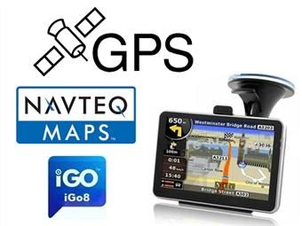 Navegador de GPS Navteq iGo8 com 50 Mapas incluindo Portugal por 63€. Software em português. PORTES INCLUIDOS.
