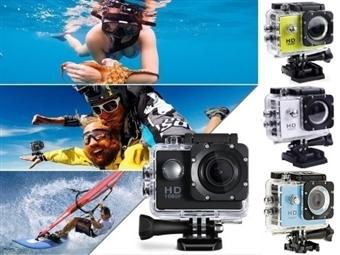 Câmara Sports 1080P Full HD à Prova de Água com LCD, Micro USB, 4 Cores à escolha e Acessórios por 28€. PORTES INCLUÍDOS.