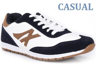 Ténis Casual Blue White com várias medidas à escolha por 36€. PORTES INCLUÍDOS.