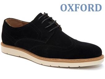 Sapatos Oxford Derby Picado Black com várias medidas à escolha por 39€. PORTES INCLUÍDOS.
