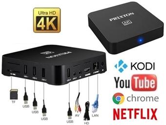 Smart Android TV Box 4K Ultra HD com Comando à Distância por 42€. Torne a sua televisão numa Smart TV. PORTES INCLUÍDOS.
