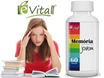 Memória Jovem da e-Vitall: Frasco de 60 Cápsulas para 30 Dias desde 11€. Melhor Memória e Neutralização do Stress. ENVIO IMEDIATO e PORTES INCLUÍDOS.