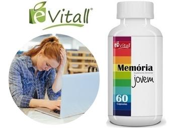 Memória Jovem da é-Vitall: Frasco de 60 Cápsulas para 30 Dias desde 11€. Melhor Memória e Neutralização do Stress. ENVIO IMEDIATO e PORTES INCLUÍDOS.