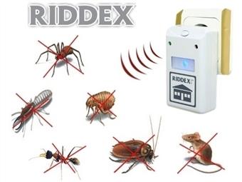 Repelente Elétrico RIDDEX desde 9€. Afasta qualquer inseto ou roedor com mais de 5 milhões de unidades vendidas e certificadas mundialmente. PORTES INCLUÍDOS.
