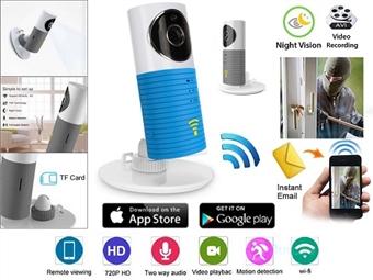Câmara WIFI de Monitorização e Vigilância com Visão Noturna e Comunicação através do seu Smartphone ou Tablet desde 43€. PORTES INCLUÍDOS.
