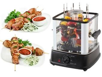 Grelhador Vertical Giratório 360º com 10 Espetos e Acesso Fácil por 48€. Prepara espetadas deliciosas e saudáveis! PORTES INCLUÍDOS.