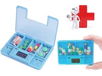 Caixa de Comprimidos com Alarme desde 8.50€. Nunca mais se esqueça de tomar os seus medicamentos na hora certa. PORTES INCLUÍDOS.
