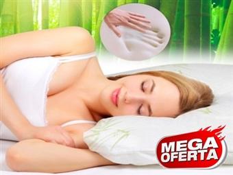 MEGA OFERTA: 2 Almofadas Viscoelásticas com 60x35cm e Tratamento de Bambu por 24€. Descanso cervical completo. PORTES INCLUIDOS.