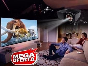 MEGA OFERTA: Projetor Portátil LED com Comando, USB, AV, VGA e SD por 60€. Cinema em Casa! Jogos de Consola em Grande! PORTES INCLUIDOS.