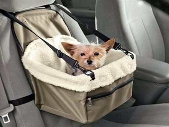 Saco de Transporte de Cão no Carro com Bolsa com Fecho por 15€. Correias ajustáveis ao assento do carro. PORTES INCLUIDOS.