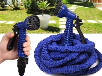 Mangueira Expansível com Pistola de Rega desde 10€. Expande de 2.5m até 7.5m com a pressão da água e tem 7 tipos de jactos diferentes. PORTES INCLUÍDOS.