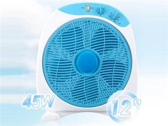 Ventilador Box Fan Air de 45W com 3 Níveis de Velocidade: Ventilação de Longo Alcance com Ângulo Ajustável e Temporizador por 33€. PORTES INCLUÍDOS.