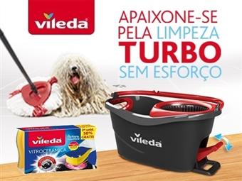 MEGA OFERTA da VILEDA: Easy Wring & Clean Turbo + 2 Esponjas Vitroceramica Não Risca por 33€. ENVIO IMEDIATO e PORTES INCLUIDOS.