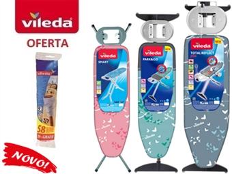 Tábuas de Engomar da VILEDA à escolha desde 33€. OFERTA: Rolo Adesivo da Vileda para remover pelos dos tecidos. PORTES INCLUIDOS.