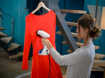 Ferro a Vapor Vertical Portátil por 29€. Remove rugas da roupa. Ideal para cortinados e sofás. PORTES INCLUIDOS.