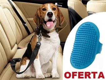 Cinto de Segurança do Carro para Animais de Estimação com OFERTA de Luva Escova por 9€. PORTES INCLUÍDOS.