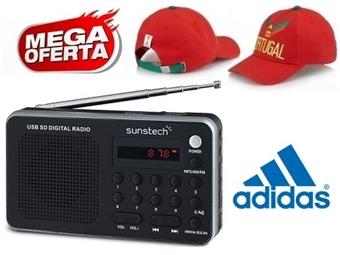 MEGA OFERTA: Rádio Digital Portátil Prateado com Pré-sintonizações e MP3 por 20€. OFERTA: Boné Adidas Portugal FIFA World Cup. ENVIO IMEDIATO e PORTES INCLUÍDOS.