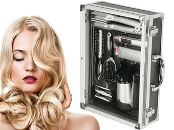 Kit Beleza: Secador de Cabelo, Modelador de Cabelo 3 em 1, Depiladora, Polidor de Unhas e Escovas de Pentear e Modeladora por 45€. PORTES INCLUÍDOS.