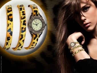 Relógio de Pulso Leopardo com Pulseira em Couro por 9€. Um design inovador que realça o seu lado mais sedutor. PORTES INCLUÍDOS.