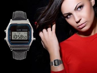 Relógio de Pulso Vintage com Pulseira em Preto por 9€. Um relógio para um look perfeito para todas as ocasiões. PORTES INCLUÍDOS.
