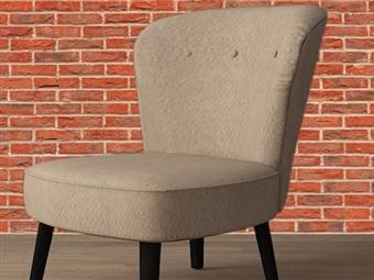 Cadeirão Individual em Tecido Creme desde 117.50€. Um design perfeito para todo o conforto em sua casa. PORTES INCLUÍDOS.