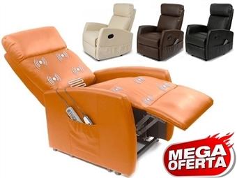 Poltrona de Massagens por Vibração por Zonas com Aquecimento Lombar, Inclinação Ajustável, Comando e 4 Cores à Escolha por 179€. PORTES INCLUÍDOS.