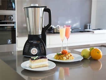 Picadora e Liquidificadora com 14 Funções CECOMIX: Cozinha até 120º, Tritura, Rala, Pulveriza, Mistura, Emulsiona, Bate por 49€. PORTES INCLUÍDOS.