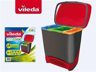 Balde Eco-Logic da VILEDA por 28€. Sistema 5 x 1 de separação do lixo. É muito fácil salvar o planeta. ENVIO IMEDIATO e PORTES INCLUIDOS.