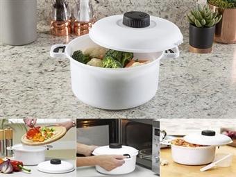Panela de Pressão para Microondas de 2,85L por 9.90€. Cozinhe as suas refeição e obtenha resultados rápidos e saborosos. ENVIO IMEDIATO e PORTES INCLUÍDOS.