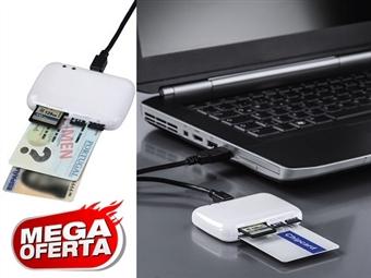 MEGA OFERTA: Leitor USB Portátil de Cartões de Identificação e Cidadão, SD, MMC, MS, XD, MicroSD e M2 desde 14€. ENVIO IMEDIATO e PORTES INCLUIDOS.