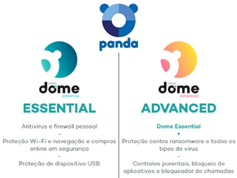 Panda Dome Advanced ou Essential para 3 Dispositivos durante 12 Meses desde 16€. Software de Segurança Máxima Online. ENVIO INCLUÍDO.