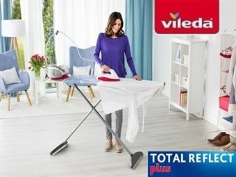 MEGA OFERTA: Tábua de Engomar Total Reflect Plus da VILEDA com Suporte para Ferro e Caldeira por 62€. ENVIO IMEDIATO e PORTES INCLUIDOS.