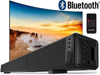 Coluna Sound Bar JoyBox Biwond de 28W com Comando, Bluetooth e Suporte para Fixação à Parede por 57€. Elegante e potente. PORTES INCLUÍDOS.
