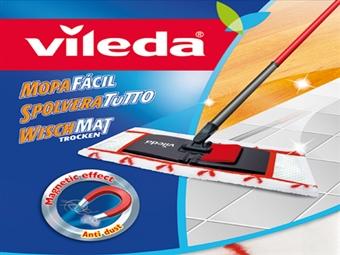 Mopa Fácil Sec da VILEDA por 16€. Ideal para limpeza de parquet e cerâmica. ENVIO IMEDIATO e PORTES INCLUIDOS.